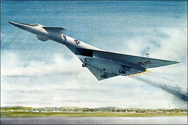 XB-70 / XB-70A Aircraft Takeoff Painting Photo Print for Sale
