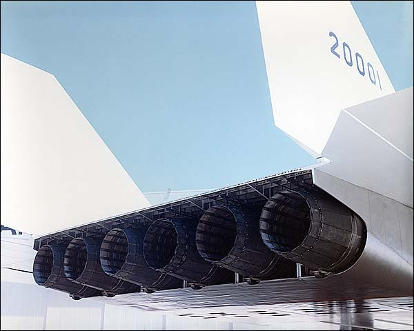 XB-70 / XB-70A Aircraft Engine Nozzles Photo Print for Sale