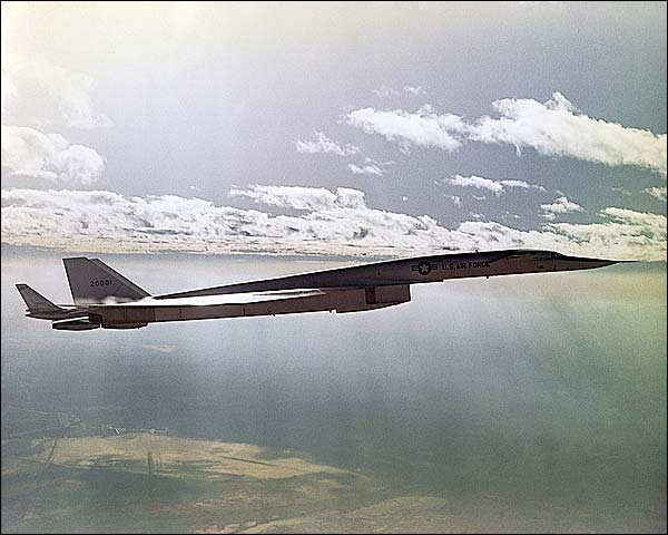 XB-70 / XB-70A Valkyrie B-58 Flight Test Photo Print for Sale