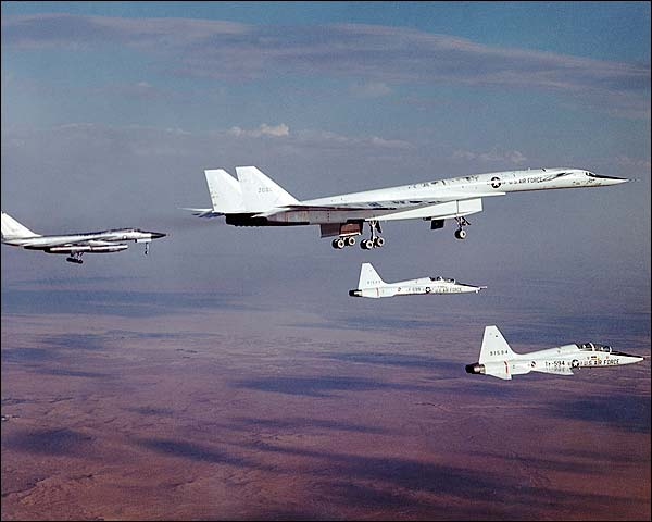 XB-70 / XB-70A Aircraft With Chase Planes Photo Print for Sale