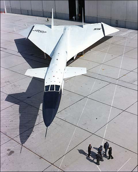 XB-70 / XB-70A Plane Parked By Hangar Photo Print for Sale