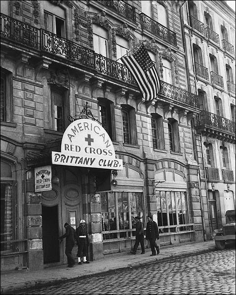 American Red Cross Brittany Club WWII Photo Print for Sale