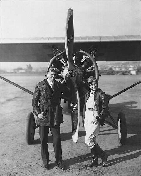 Kathryn Crawford & Otto Timm with Plane Photo Print for Sale