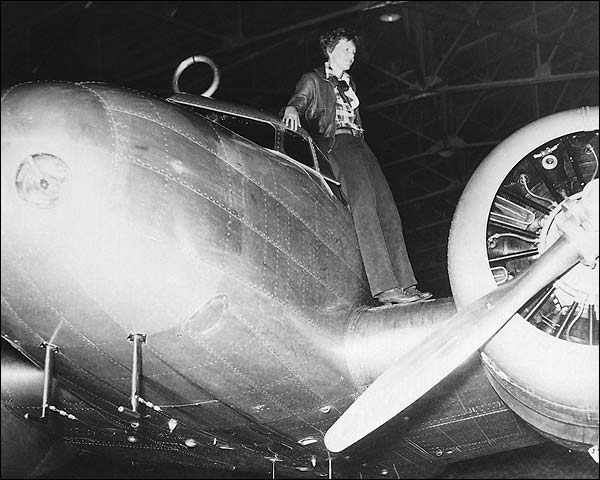 Amelia Earhart and Lockheed Electra Photo Print for Sale