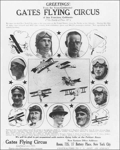 Gates Flying Circus Poster Print Photo Print for Sale