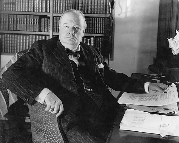 Prime Minister Winston Churchill WWII Photo Print for Sale
