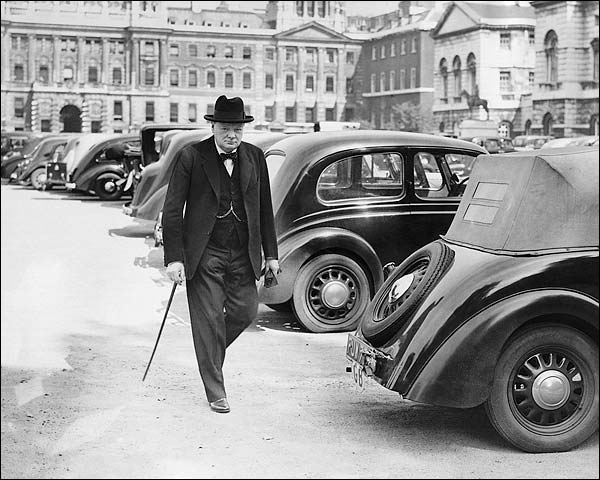 Prime Minister Winston Churchill Candid Photo Print for Sale