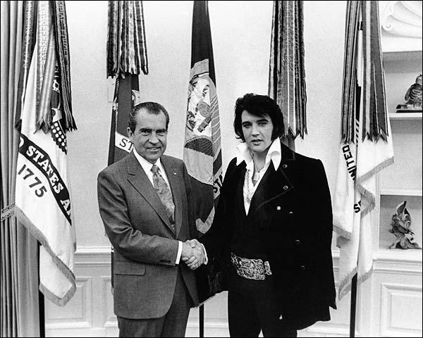 Elvis Presley Meets President Nixon Photo Print for Sale