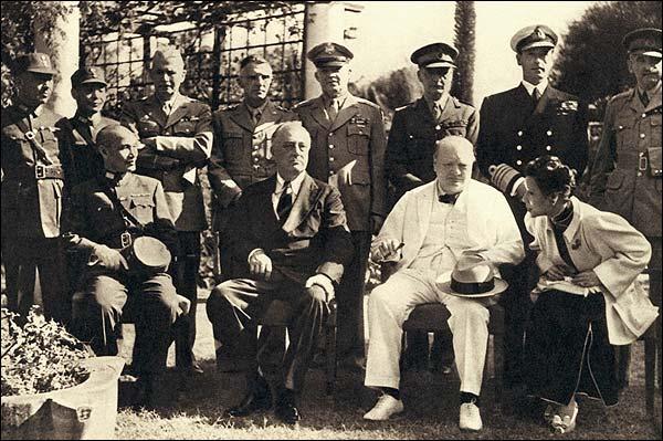 Roosevelt Churchill Kai-shek in Cairo WWII Photo Print for Sale