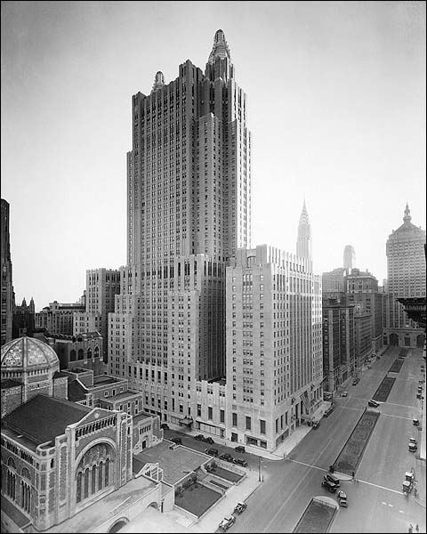 Waldorf Astoria Hotel, New York City 1930s Photo Print for Sale