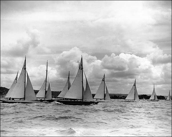 Deauville-Trouville Sailing Boat Regatta Photo Print for Sale