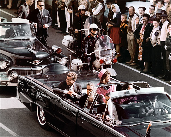 JFK Dallas Motorcade Before Assassination Photo Print for Sale
