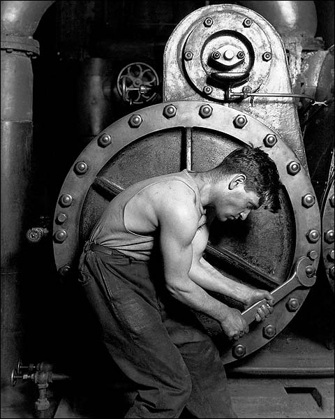Mechanic & Steam Pump Lewis Hine Labor Photo Print for Sale