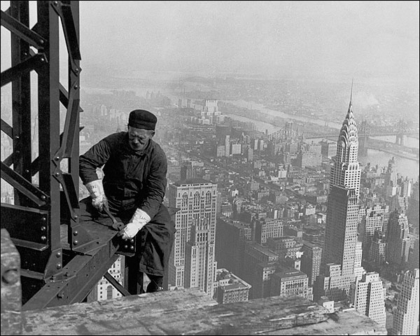 Empire State Building Worker Lewis Hine Photo Print for Sale