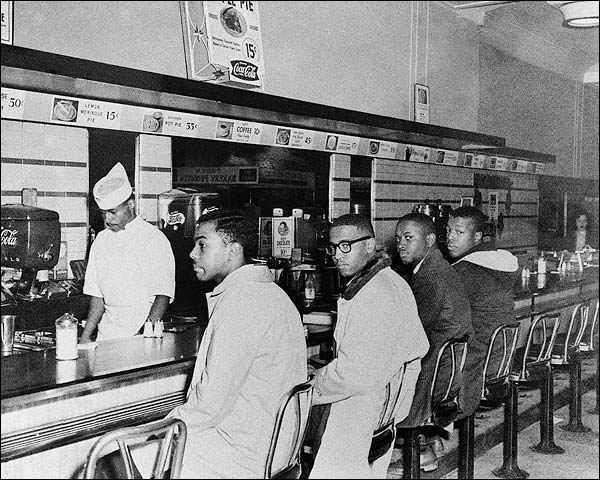 Greensboro Lunch Counter Sit-In at Woolworth's Photo Print for Sale