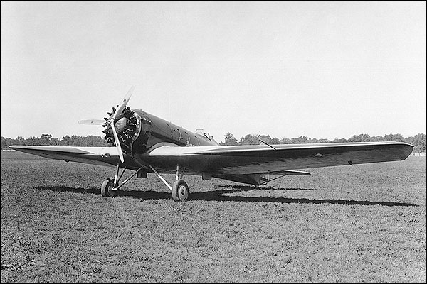 Boeing Monomail 221 (NC10225) 3/4 Front View  Photo Print for Sale