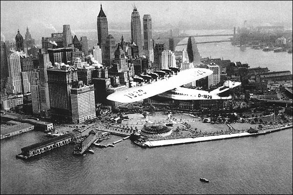 Dornier Flying Boat over New York City Photo Print for Sale