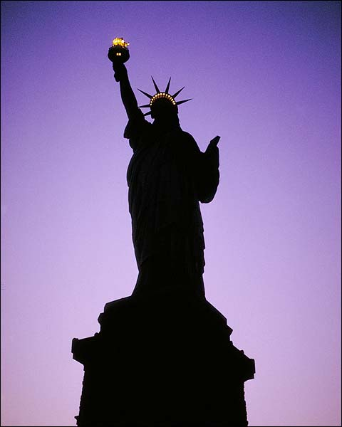 Statue of Liberty at Night, New York City Photo Print for Sale