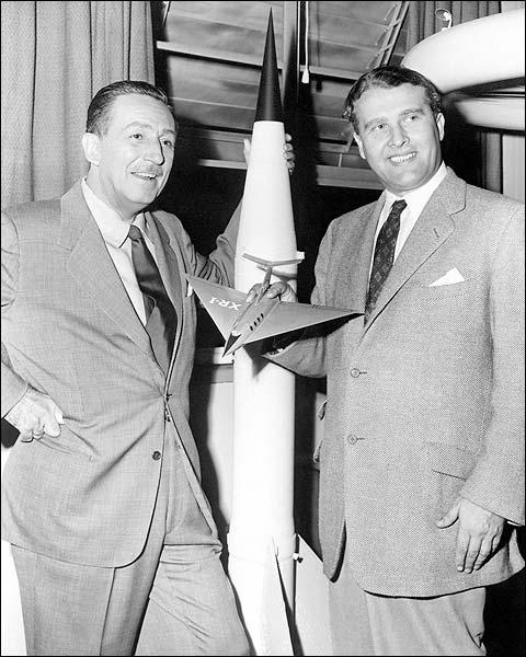 Walt Disney & Dr. Wernher Von Braun Photo Print for Sale