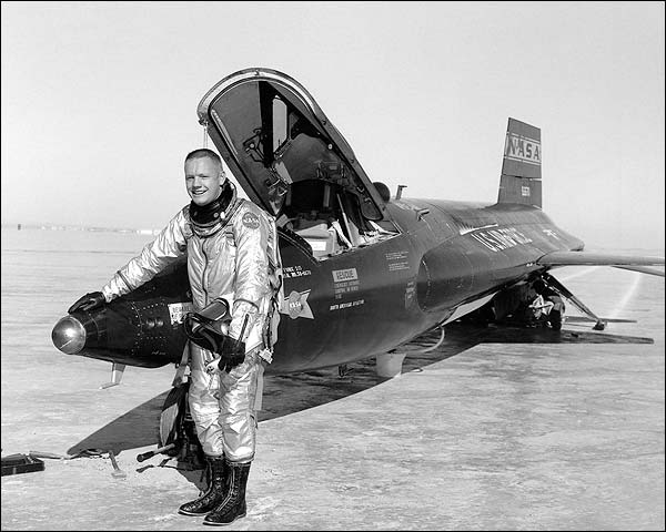 Neil Armstrong w/ X-15 Photo Print for Sale