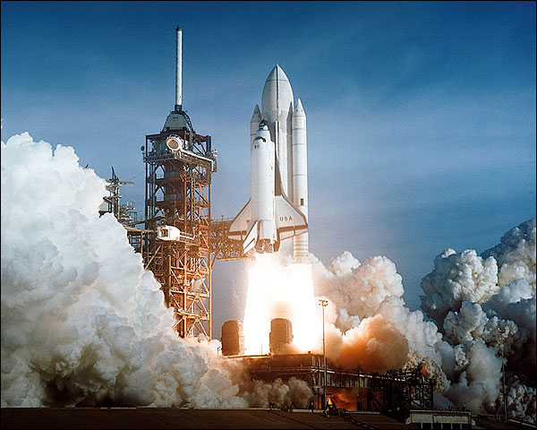 Space Shuttle Columbia STS-1 Launch 1981 Photo Print for Sale