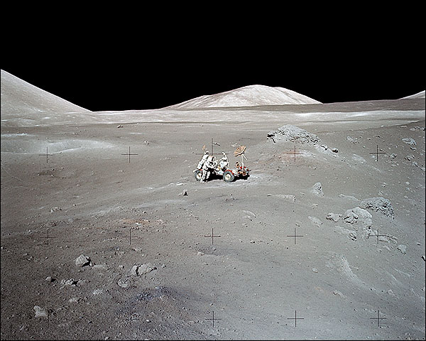 Apollo 17 Lunar Rover at Distance Photo Print for Sale