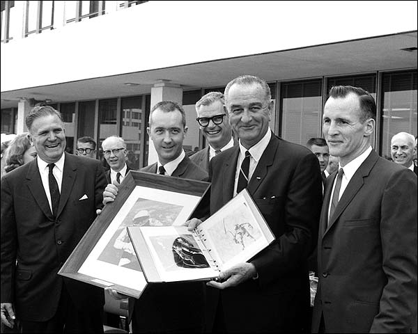 President Lyndon Johnson & Ed White Photo Print for Sale
