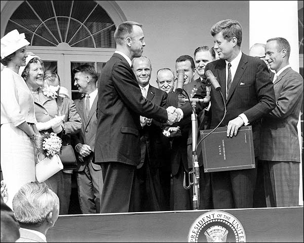President John Kennedy & Alan Shepard Photo Print for Sale