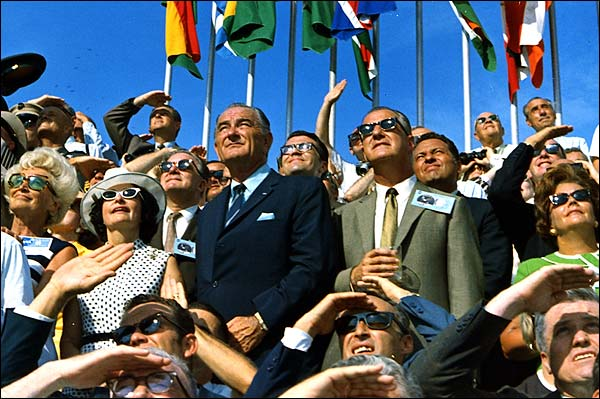 Lyndon Johnson & Spiro Agnew Apollo 11 Photo Print for Sale