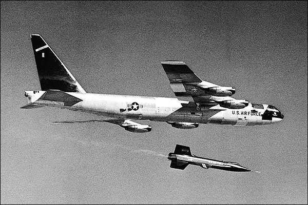 X-15 Release from B-52 Mothership Photo Print for Sale