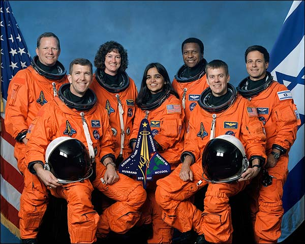 STS-107 Space Shuttle Columbia Crew Photo Print for Sale