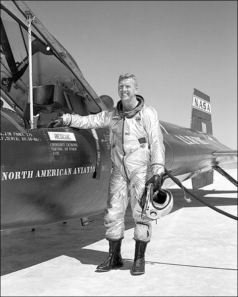 X-15 w/ Test Pilot Joe Walker Photo Print for Sale