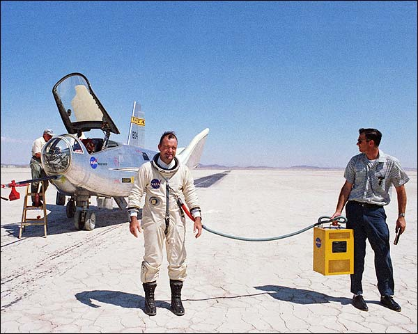 Test Pilot Bill Dana w/ HL-10 Photo Print for Sale