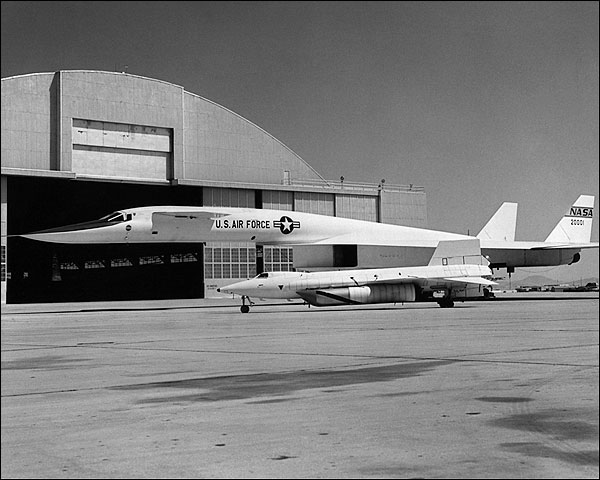 XB-70 & X-15 Parked on Ramp Photo Print for Sale
