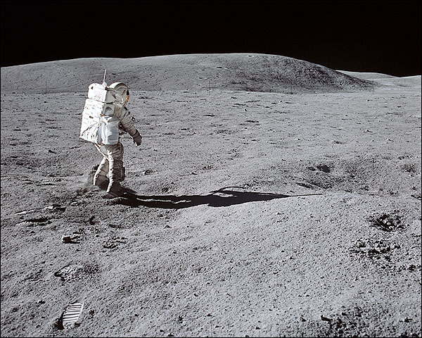 Apollo 16 Astronaut Charles Duke on Moon Photo Print for Sale