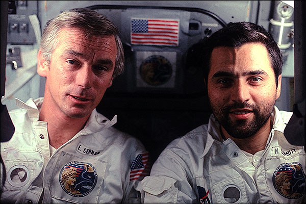 Apollo 17 Astronauts Cernan & Schmitt Photo Print for Sale