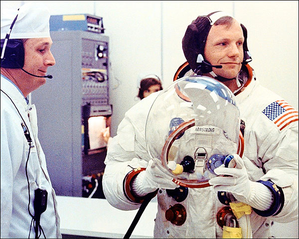 Apollo 11 Neil Armstrong Preflight Photo Print for Sale
