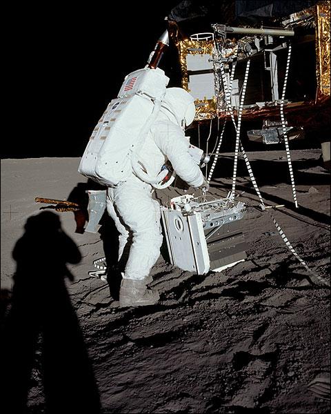 Apollo 12 Alan Bean on Lunar Surface Photo Print for Sale