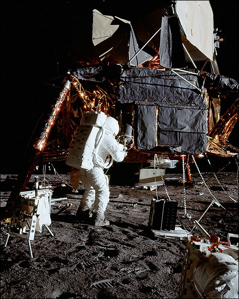 Apollo 12 Alan Bean Lunar Experiments Photo Print for Sale