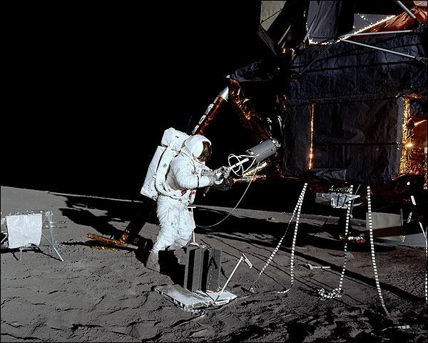 Apollo 12 Alan Bean Lunar EVA Photo Print for Sale