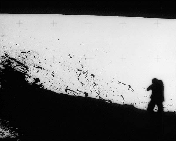 Pete Conrad Apollo 12 Shadow on Moon Photo Print for Sale