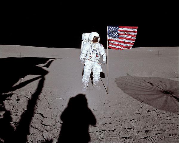 Apollo 14 Edgar Mitchell Lunar Surface Photo Print for Sale