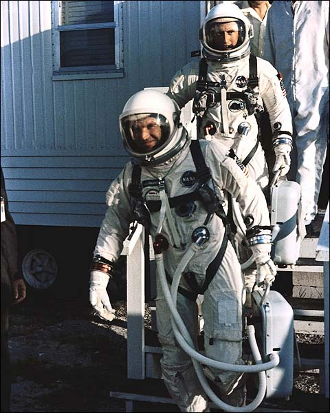 Astronauts Cooper and Conrad of Gemini 5 Photo Print for Sale