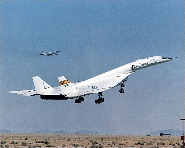 XB-70 / XB-70A Liftoff w/ B-58 Chase Plane Photo Print for Sale