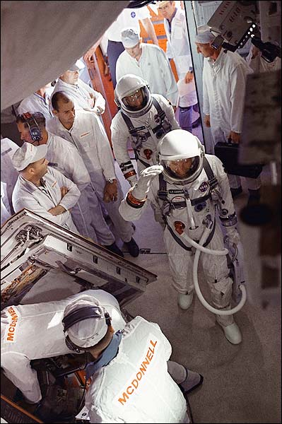 Pete Conrad & Gordon Cooper Gemini 5 Photo Print for Sale