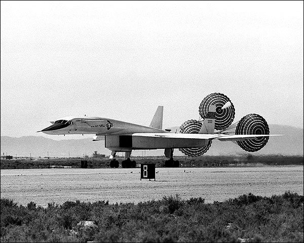 XB-70 / XB-70A Landing w/ Drag Chute Photo Print for Sale