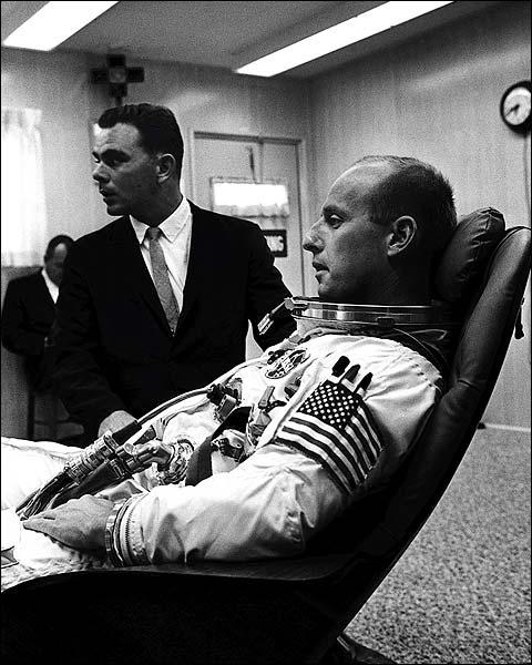 Pete Conrad Preparing for Gemini 5 Photo Print for Sale