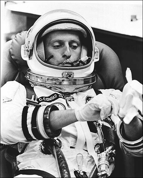 Pete Conrad Prepares for Gemini 5 Launch Photo Print for Sale