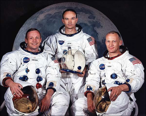 Apollo 11 Moon Landing Astronaut Crew Photo Print for Sale