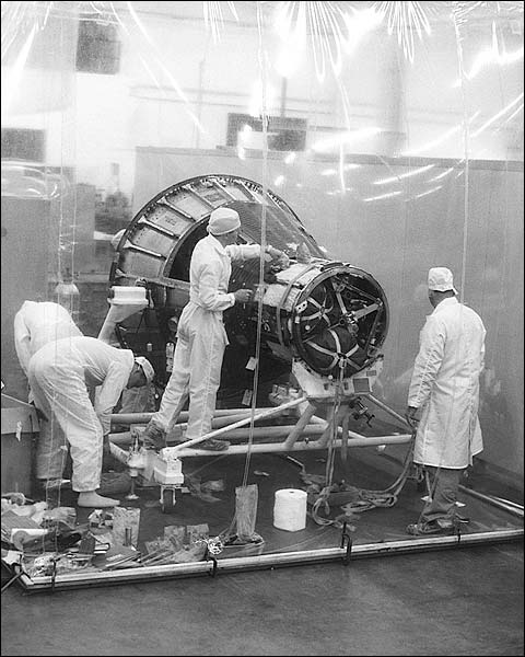 Mercury Technicians NASA Photo Print for Sale
